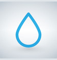 water or oil drop line icon outline sign linear vector image