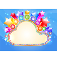 Welcome and colorful cloud marquee vector image vector image