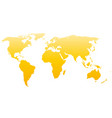 world map silhouette yellow gradient vector image vector image