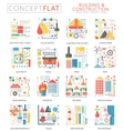 Infographics mini concept building construction vector image