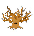 Terrible tree monster with evil eyes Ancient tree vector image