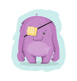 cute cartoon monster character vector image
