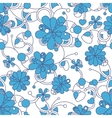 Floral seamless background pattern for continuous vector image