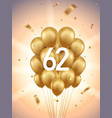 62nd year anniversary background vector image vector image