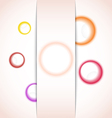 abstract background with multicolor bubble vector image