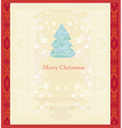 Abstract christmas tree card vector image vector image
