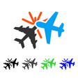 airplane collision flat icon vector image vector image