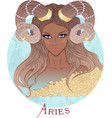 Astrological sign of Aries as a african girl vector image vector image