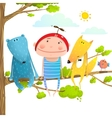 baanimals and kid childish funny friends vector image