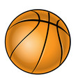 basketball over white background vector image