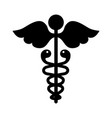 black icon medical symbol vector image