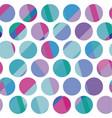 blue color polka dot motif vector image