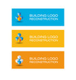 building logo build emblem vector image vector image