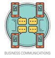 Business communications line infographic vector image vector image