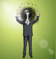 businessman with hands up vector image vector image