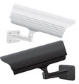 cctv security camera side view vector image vector image