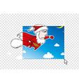 Christmas postcard concept vector image vector image