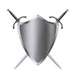 Coat of arms medieval knight shield and sword vector image