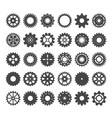 cogwheels varieties set gear industrial vector image vector image