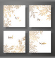 collection of square gold cards with berries vector image vector image