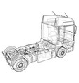 commercial delivery tracing of 3d vector image