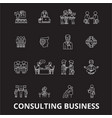 consulting business editable line icons set vector image vector image