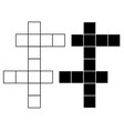 crossword icon on white background flat style vector image vector image