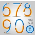 Digit set in wooden pencil style vector image vector image