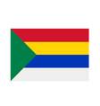 druze religion flag insignia- five colors vector image vector image