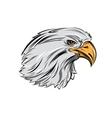 Eagle Head In Profile vector image vector image
