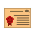 education diploma isolated vector image vector image