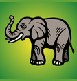 elephant flat image isolated object green vector image vector image