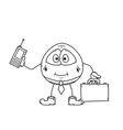 emoticon businessman sketch vector image vector image