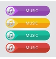 flat buttons music vector image vector image
