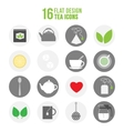 Flat colorful design tea icons set vector image vector image