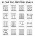 Floor icon vector image vector image