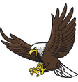 flying eagle mascot vector image