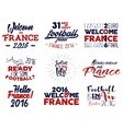 France europe 2016 Football labels Soccer vector image vector image