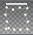 glowing garland in the shape of square vector image vector image