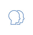 heads line icon concept heads vector image