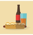 Hot dog food design vector image vector image