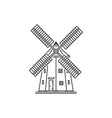icon outline style windmill vector image vector image