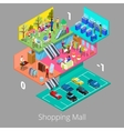 Isometric Shopping Mall Interior with Boutique vector image