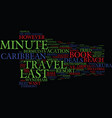 last minute caribbean travel deals text vector image vector image