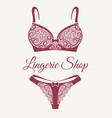 lingerie shop retro emblem vector image vector image