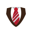 male clothes with necktie icon vector image