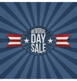 Memorial Day Sale greeting Label vector image vector image