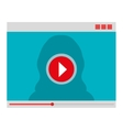 Movie or video loading on webpage vector image