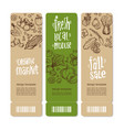organic market kit banners vector image vector image