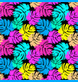 palm leaves summer funky seamless pattern vector image vector image